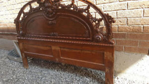Antique Carved Queen size Bed - Real Sheesham Wood from Pakistan