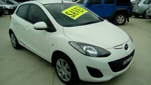 2013 Mazda 2 DE10Y2 MY13 Neo White 5 Speed Manual Hatchback Maryville Newcastle Area Preview