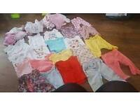3 to 6 months baby girl clothes bundle