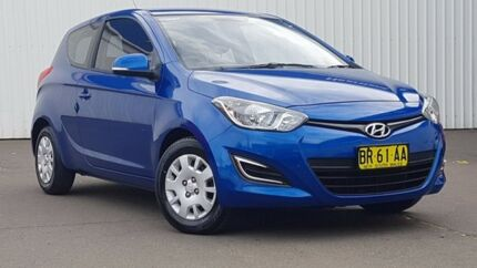 2012 Hyundai i20 PB MY12 Active Blue 5 Speed Manual Hatchback Kings Park Blacktown Area Preview