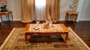 3 pieces coffee Table set solid wood - Like New