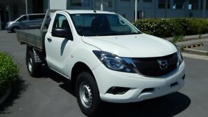 2018 Mazda BT-50 UR0YE1 XT 4x2 Hi-Rider White 6 Speed Sports Automatic Cab Chassis North Lakes Pine Rivers Area Preview