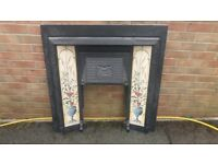 Antique Cast Iron Fire Surround - In excellent condition