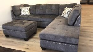 Sale -  Sectional with Storage Ottoman