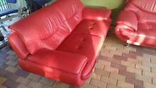 Two leather sofas plus chair for sale Paradise Point Gold Coast North Preview