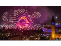 1 x London NYE Eve Fireworks 2016-2017 Ticket Blue Area Westminster & Embankment