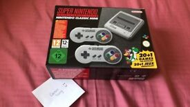 Snes for sale boxed only used twice
