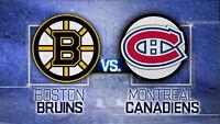 MATCH BRUINS VS CANADIENS 9 DÉCEMBRE