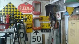 LOTS OF SIGNS AND OTHER MAN CAVE DECOR( tractor grills etc) Belleville Belleville Area image 1