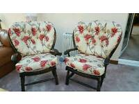 Ercol style vintage cottage chairs