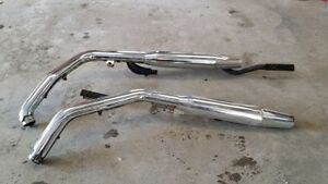 Stock exhaust pipes off of a 1986 sportster