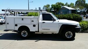 2011 Nissan Patrol GU 6 MY10 DX White 5 Speed Manual Cab Chassis Acacia Ridge Brisbane South West Preview