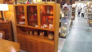 Vintage Teak Hutch. ON SALE