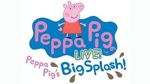 Peppa Pig front row centre stage plus party pass