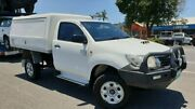 2012 Toyota Hilux KUN26R MY12 SR White 5 Speed Manual Cab Chassis Bungalow Cairns City Preview
