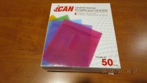 50 Colored CD/ DVD Sleeves (new)
