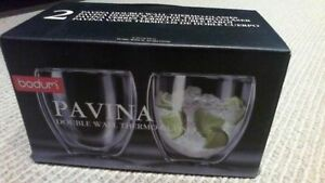 BRAND NEW Bodum Pavina Double Wall 8.5-Ounce Thermo-Glasses London Ontario image 1