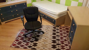 Bed frames, mattresses, chairs, rugs (all sold separately)
