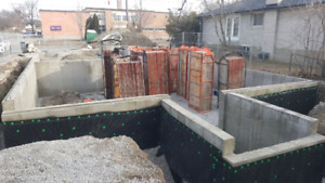 Concrete forming, additions, slabs, concrete finishing
