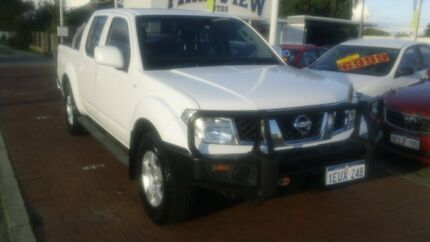 2011 Nissan Navara D40 MY11 ST White 6 Speed Manual Utility Victoria Park Victoria Park Area Preview