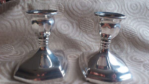 Silver Plated Candle Holders (2)