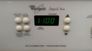 Whirlpool electric range with glasstop
