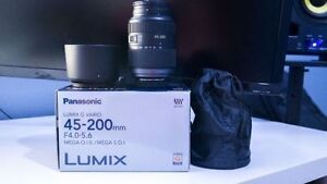 Panasonic Lumix 45-200mm MEGA O.I.S Lens (LOWERED)