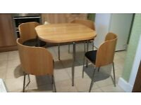 Table and Chairs for sale- ideal for flat, small dining area