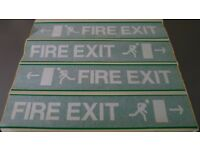 13 x Fire Exit Running Man Arrows L & R Self Adhesive Vinyl 800 x 110mm Events & Exhibitions