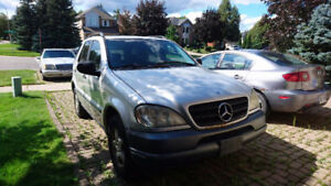 1999 Mercedes Benz ML320 Silver/Black