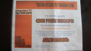 "Gift Certificate ""The Great Escape"""