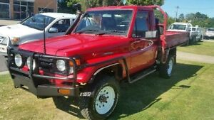 1999 Toyota Landcruiser HZJ79R Red Manual Cab Chassis Deagon Brisbane North East Preview