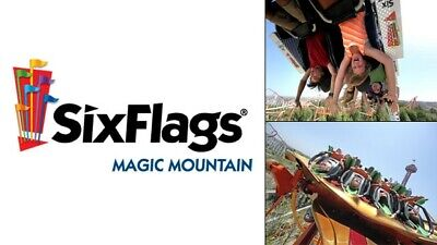 SIX FLAGS MAGIC MOUNTAIN Child / Youth Ticket, One day Admission, Exp 8/31/2021