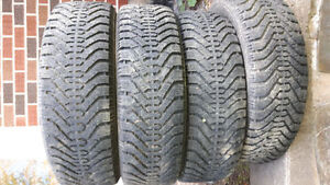 set of four 215/65r16 goodyear winter tires for sale.