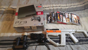 Ps3 with move controllers and ten games