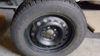 Goodyear Nordic Winter Tires 215/65R16 On Steel Wheels
