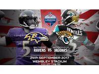 2 tickets for WEMBLEY NFL GAMES RAVENS VS JAGUARS
