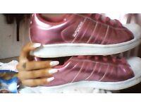 size 4 addidas superstars worn twice