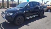 2015 Mitsubishi Triton MN MY15 GLX Double Cab 4x2 Black 4 Speed Sports Automatic Utility Mount Gambier Grant Area Preview
