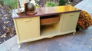 Painted and Refinished TV Console/Buffet or Sofa Table