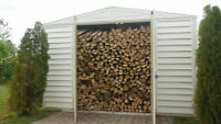 Approx.12 CLEAN face cords of dried firewood - delivery extra  -