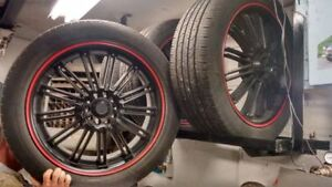 """Kasino 20"""" Rims Great Condition with tires Windsor Region Ontario image 1"""