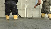 AVAILABLE FOR ALL YOUR CONCRETE/CEMENT WORK