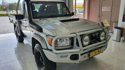 2017 Toyota Landcruiser VDJ79R GXL Silver 5 Speed Manual Cab Chassis Taylors Beach Port Stephens Area Preview