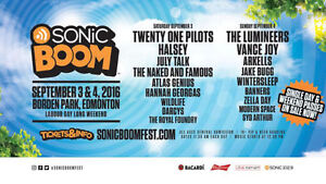 2 Sonic Boom Tickets MAKE ME AN OFFER