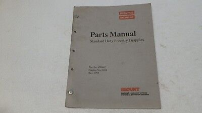 Prentice Hydro-ax Forestry Grapples Parts Manual Ci269
