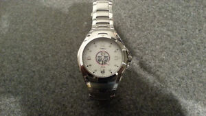 Stainless steel OILERS timex watch