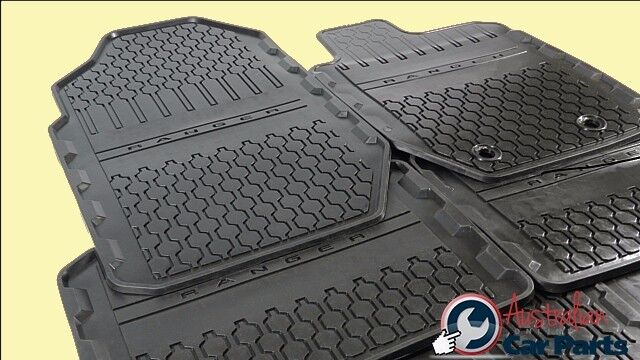 Ford Ranger Floor Mats Rubber Front & Rear set New Genuine 2011-2015 Double Cab