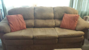 Microfiber/Faux Suede Sofa - MOVING, NEED GONE BY THU SEPT 29th