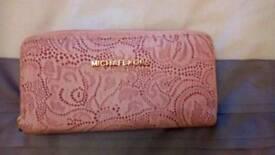 MK pink leather purse